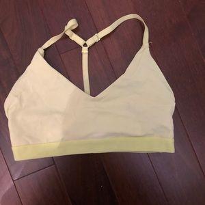 Neon yellow sports bra